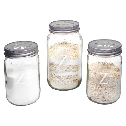 3ct Cathy's Concepts Personalized Mason Jar Sand Ceremony Set with Letter A-Z - image 1 of 2
