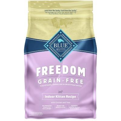 Blue Buffalo Freedom Grain Free Indoor with Chicken, Peas & Potatoes Kitten Premium Dry Cat Food