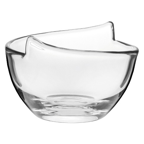 Krosno® Handmade Glass Notch Bowl 6.5in - image 1 of 3