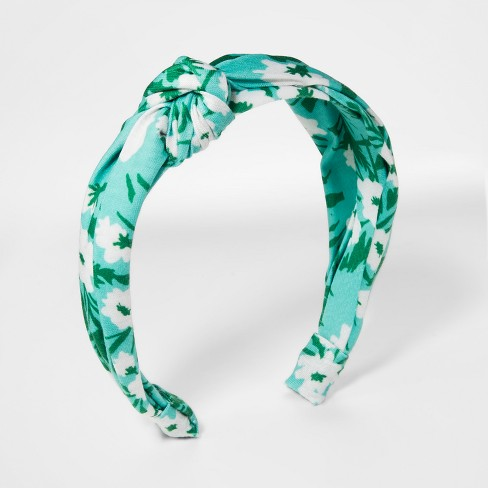 Girls' Top Knot Headband - Cat & Jack™ Green - image 1 of 2