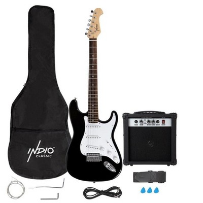 Monoprice Cali Complete Electric Guitar Package with 10W Amp and Gig Bag, Guitar Strap, and a 1/4in Guitar Cable, Ideal For Beginners - Indio Series
