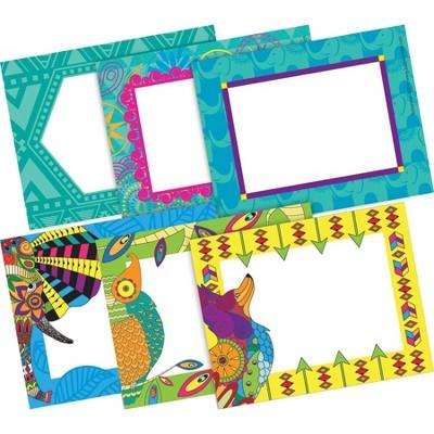 2pk 45ea Bohemian Animals Remember Me! Self-Adhesive Name Tag Labels - Barker Creek