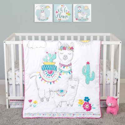 Sammy and Lou Llama Mama Crib Bedding Set - 4pc