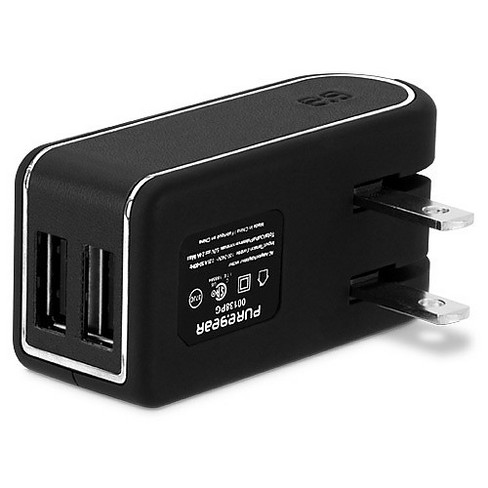 Puregear - Car Charger Dual Port 24w/4.8a Universal - Black - image 1 of 2