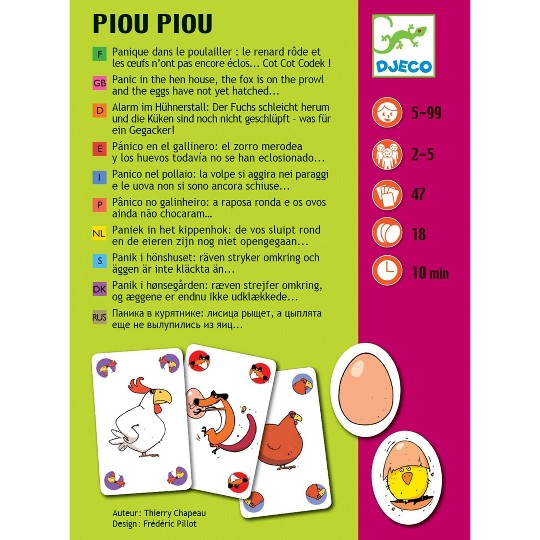 Asmodee Piou Piou Card Game image number null