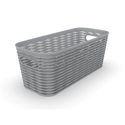 5L 1/2 Medium Wave Design Storage Bin Gray - Room Essentials™