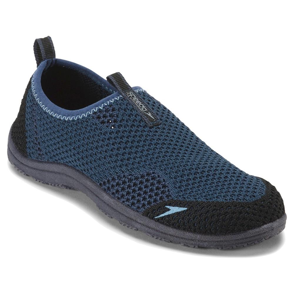 Speedo Jr Boys' Surfwalker Knit Water Shoes - Navy (Blue) (Small)
