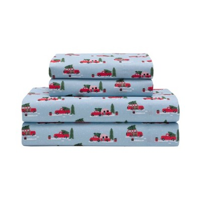Holiday Print Microfiber Sheet Set - Elite Home Products