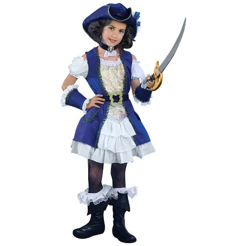 Girl's Blue Pirate Costume - image 1 of 1