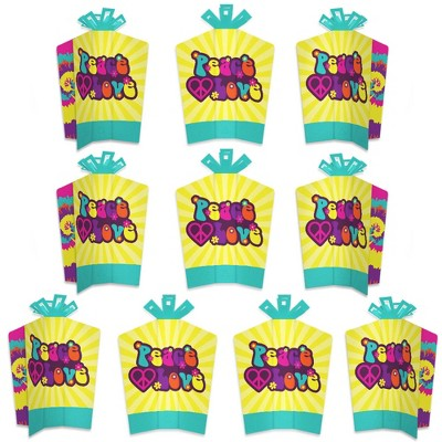Big Dot of Happiness 60's Hippie - Table Decorations - 1960s Groovy Party Fold and Flare Centerpieces - 10 Count