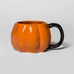 10oz Stoneware Pumpkin Figural Mug Orange - Threshold™