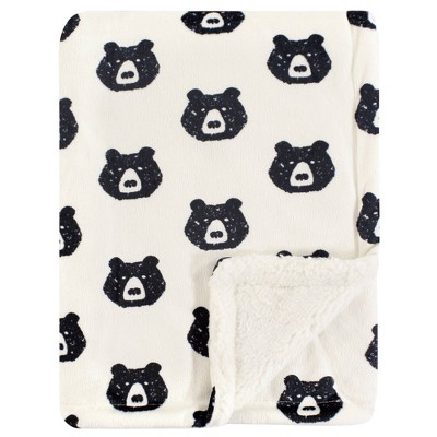 Yoga Sprout Unisex Baby Mink and Sherpa Plush Blanket Bear - One Size