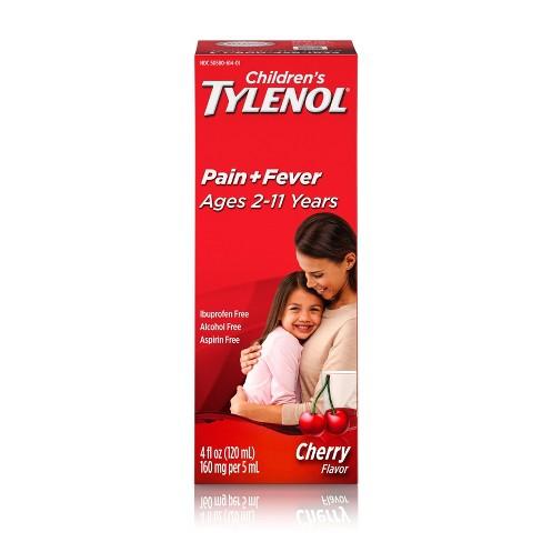 Childrens Tylenol Pain + Fever Relief Liquid - Acetaminophen - 4 fl oz - image 1 of 4