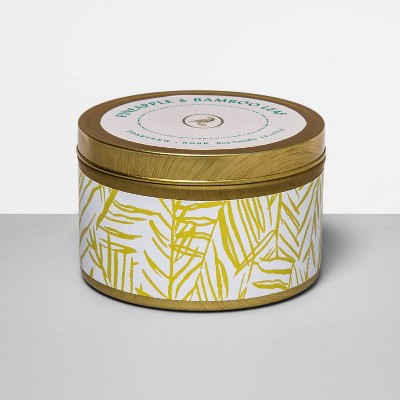 4.8oz Tin Jar Candle Pineapple & Bamboo Leaf - Fruit Collection - Opalhouse™