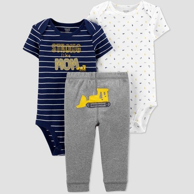 Baby Boys' Construction Top & Bottom Set - Just One You® made by carter's Navy/White/Gray 3M