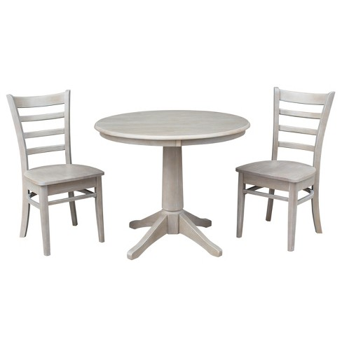 Solid Wood Pedestal Dining Table