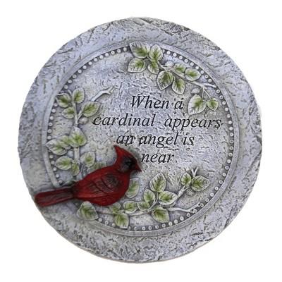 "Home & Garden 10.5"" Cardinal Blessing Stone Bereavement Red Bird Roman, Inc  -  Outdoor Sculptures And Statues"