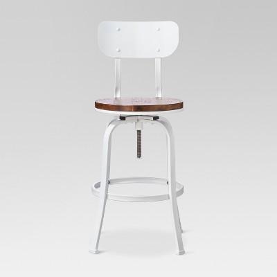 Dakota Adjustable Wood Seat Barstool  - Threshold™