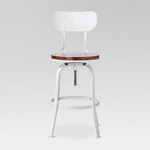 Fine 29 Dakota Backed Adjustable Barstool White Threshold Theyellowbook Wood Chair Design Ideas Theyellowbookinfo