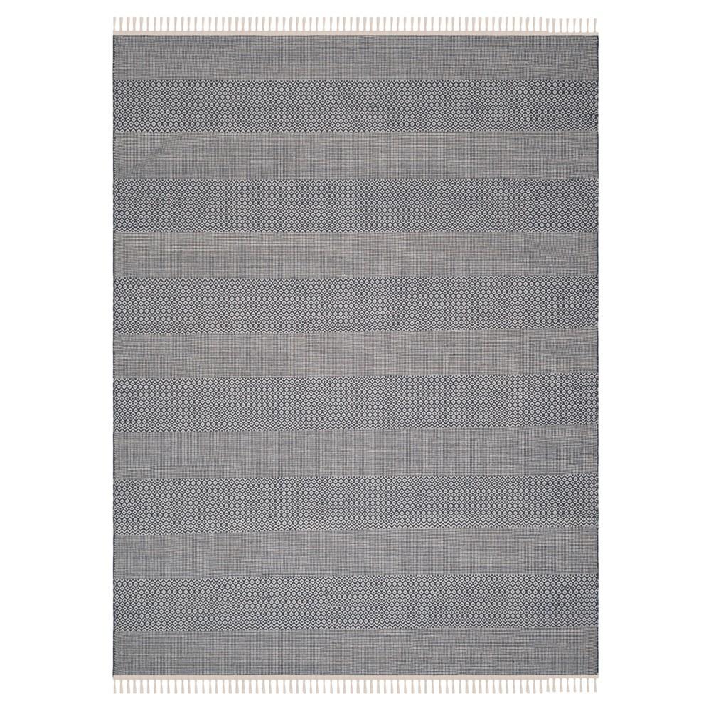 Ivory/Navy (Ivory/Blue) Geometric Flatweave Woven Area Rug 8'X10' - Safavieh