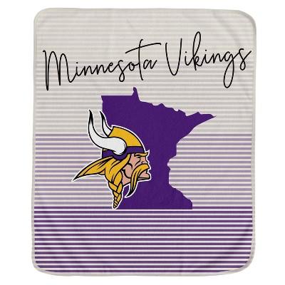 NFL Minnesota Vikings Ultra Fleece State Stripe Blanket