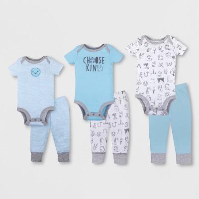 Lamaze Baby Boys' Organic 6pc Grow With Me Set - Blue 0-9M