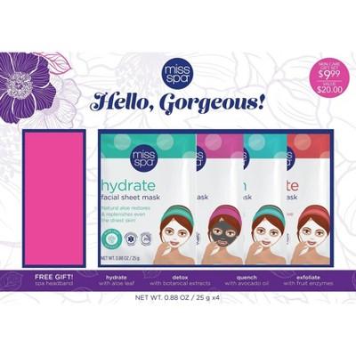 Miss Spa Hello Gorgeous Masking Gift Set - 0.88oz