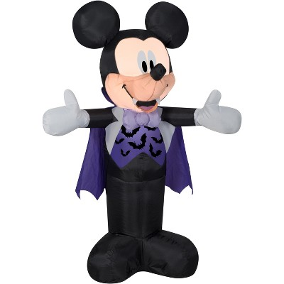 Gemmy Airblown Mickey in Vampire Costume Disney , 3.5 ft Tall, Multicolored