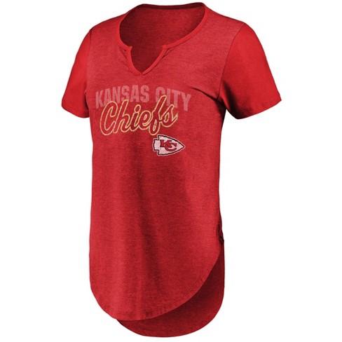 NFL Kansas City Chiefs Women s Smart Decision Notch Neck T-Shirt ... 59afabf762