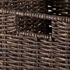 2pc Granville Foldable Small Corn Husk Baskets Chocolate - Winsome - image 3 of 3