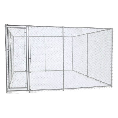 Lucky Dog 10' x 10' x 6' Heavy Duty Outdoor Chain Link Dog Kennel Enclosure