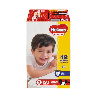 Huggies Snug & Dry Diapers - Size 4 (192ct)