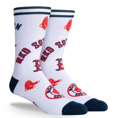 MLB Boston Red Sox Mixed Up Crew Socks - L