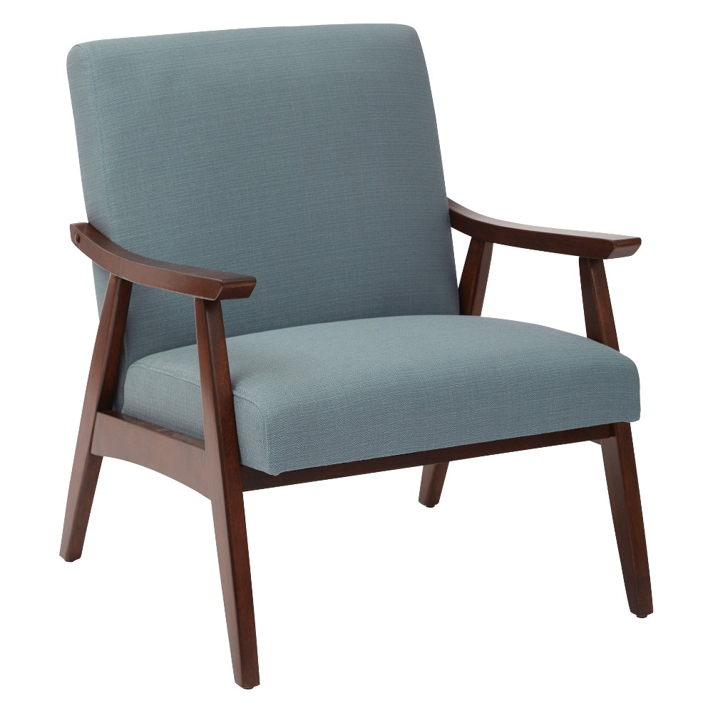 Davis Upholstered Armchair Sea Blue - Osp Home Furnishings