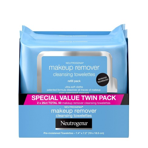Neutrogena Makeup Remover Cleansing Towelettes Refill Pack - 2pk - image 1 of 4