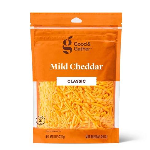 Shredded Mild Cheddar Cheese - 8oz - Good & Gather™ - image 1 of 2