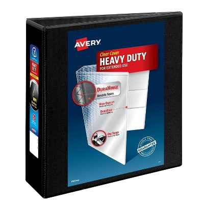 "Avery 600 Sheet 3"" Heavy Duty Non Stick View Ring Binder Black"
