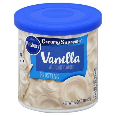 Frosting & Decorations: Pillsbury Creamy Supreme Vanilla Frosting