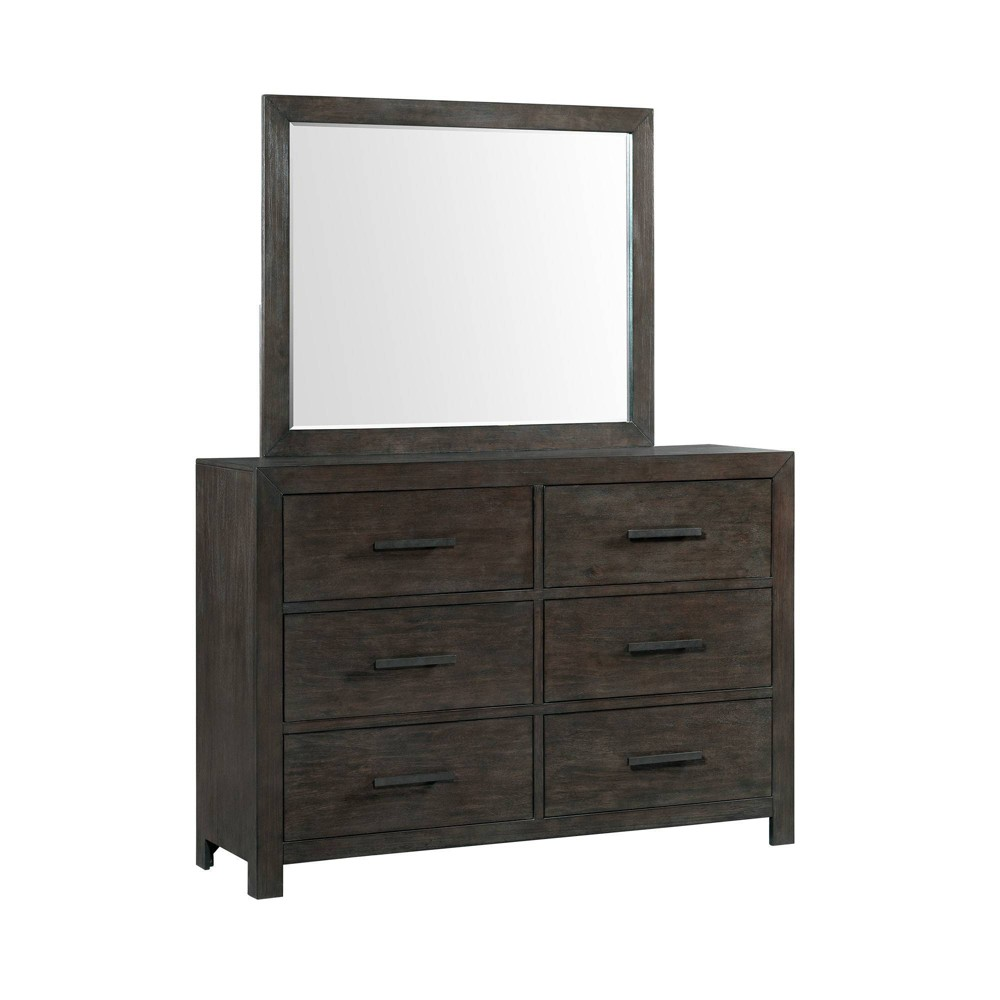 6 Drawer Holland Dresser & Mirror Set Toasted Walnut - Picket House Furnishings