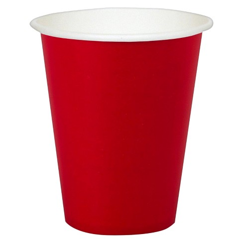 24ct 9 Oz. Cups - Red - image 1 of 1