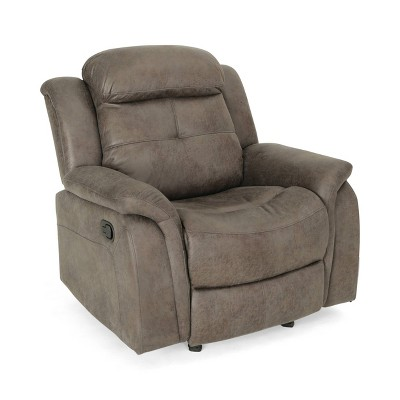 Amadeus Contemporary Fabric Upholstered Rocking Glider Recliner - Christopher Knight Home