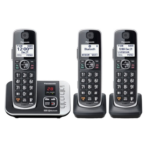 209eee56e Panasonic Cordless Phone with Link to Cell and Digital Answering Machine