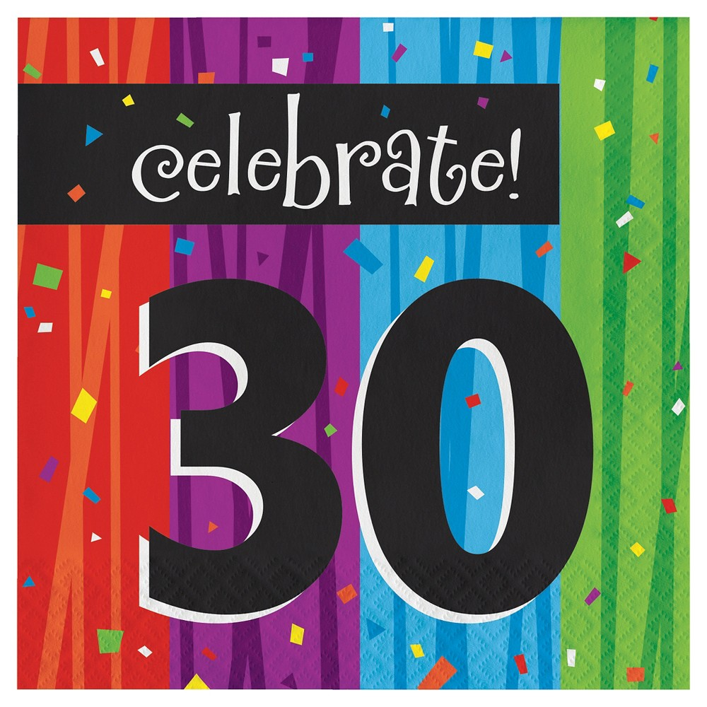 Image of 16ct Milestone Celebrations 30th Birthday Napkins