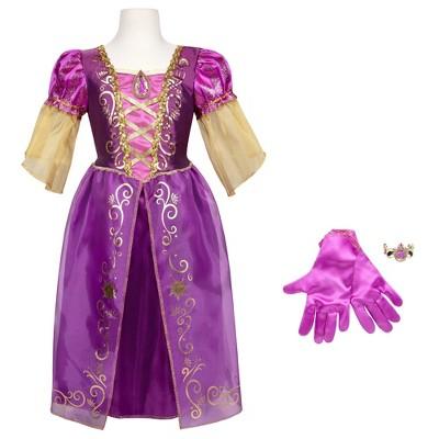 Disney Princess Rapunzel Majestic Dress with Bracelet and Gloves