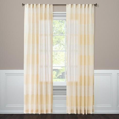 Metallic Rugy Stripe Sheer Curtain Panel Gold 54 X108 Threshold