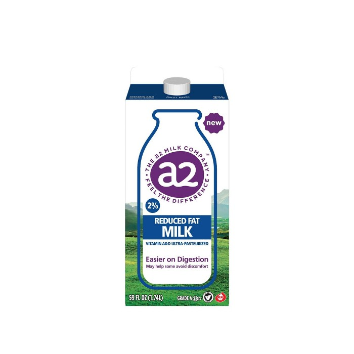 A2 Vitamin A & D Ultra-Pasteurized 2% Milk - 59 fl oz - image 1 of 4