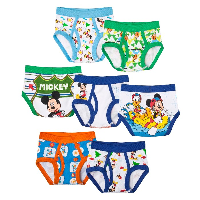 Toddler Boys' 7 Pack Underwear Mickey Mouse by Handcraft 2T-3T - image 1 of 1