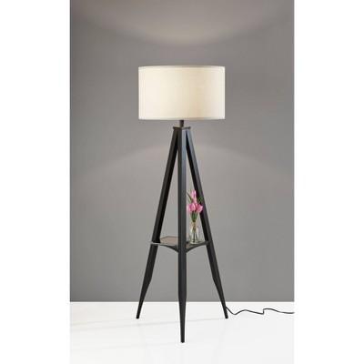 Warren Shelf Floor Lamp Black - Adesso