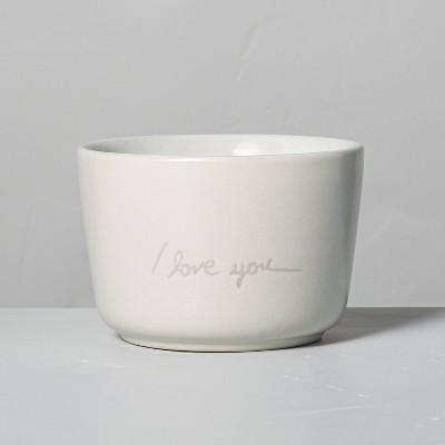 6.77oz Salt 'I Love You' Ceramic Candle - Hearth & Hand™ with Magnolia