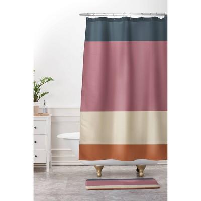 Color Poems Contemporary Color Block Shower Curtain - Deny Designs